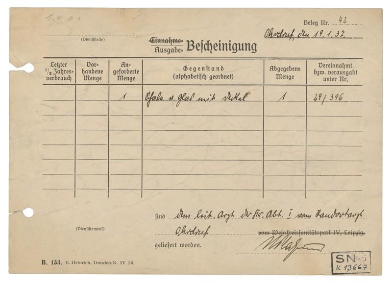 Vysilený - zadná strana (administratívny lístok)