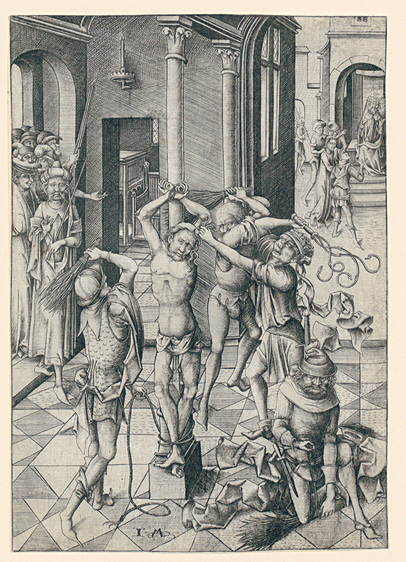 Israhel van Meckenem – Bičovanie Krista z cyklu Veľké pašie