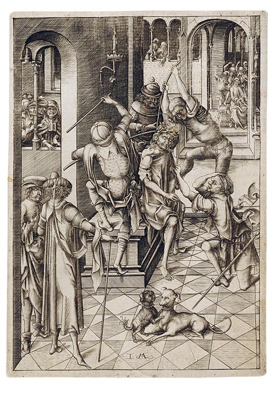 Israhel van Meckenem – Korunovanie tŕním z cyklu Veľké pašie