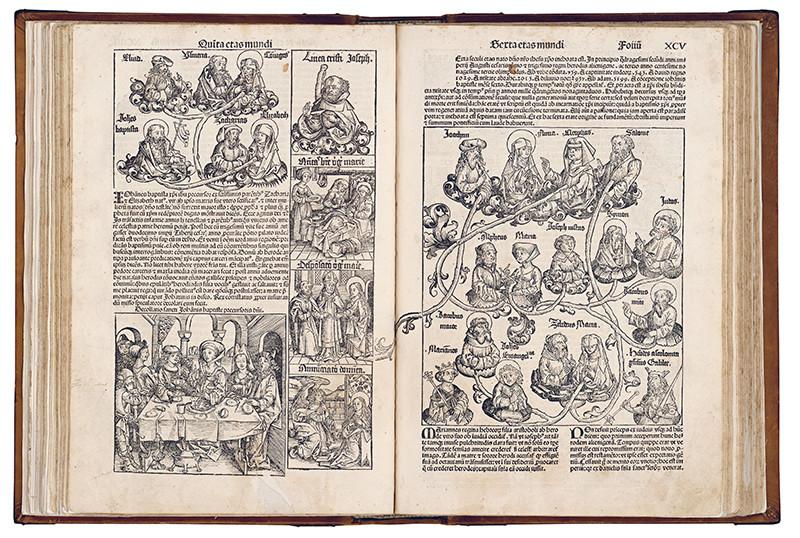 Michael Wolgemut , Wilhelm Pleydenwurf – Rodostrom sv. Anny (Kristovo príbuzenstvo, S. XCV), 1491 – 1493