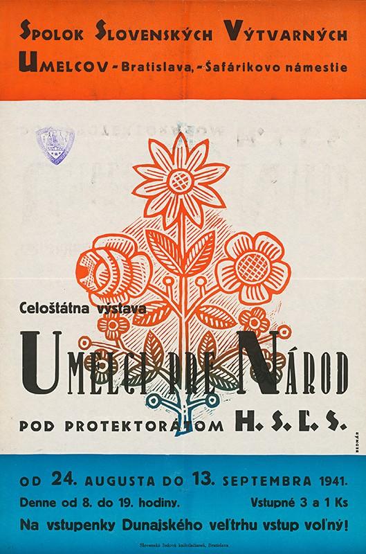 Štefan Bednár - Umelci pre národ, 1941, Ministerstvo vnútra SR - Štátny archív v Banskej Bystrici