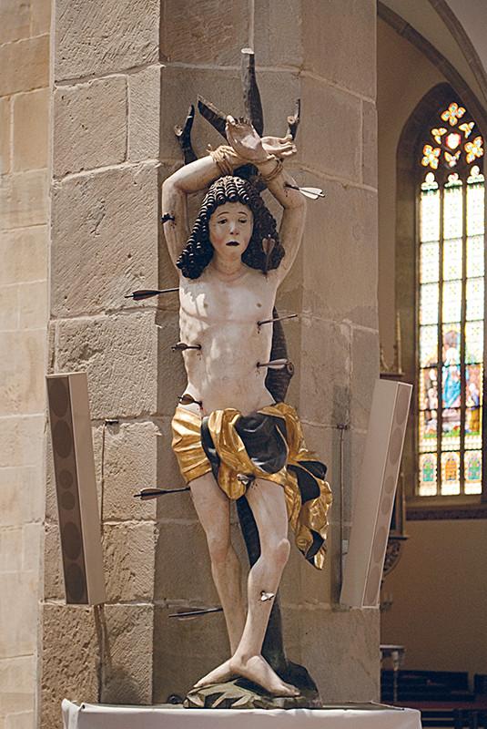 Neznámy rezbár - Sv. Sebastian, pred 1520