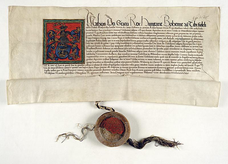 Erbová listina pre Matúša a Vavrinca z Čečejoviec