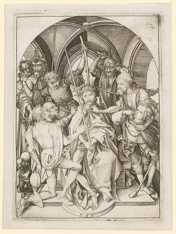 Martin Schongauer – Korunovanie tŕním z cyklu Pašie