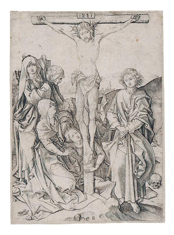 Martin Schongauer – Ukrižovanie z cyklu Pašie