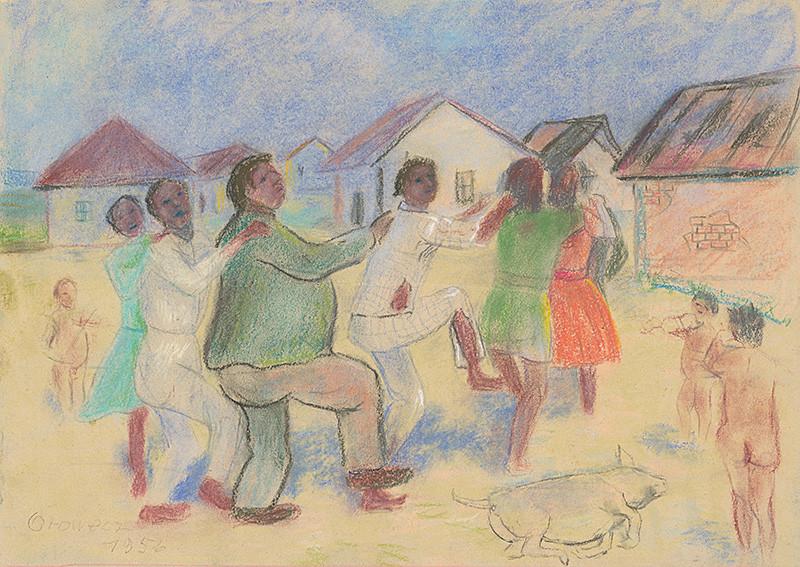 Imrich Oravec - V cigánskej osade, 1956