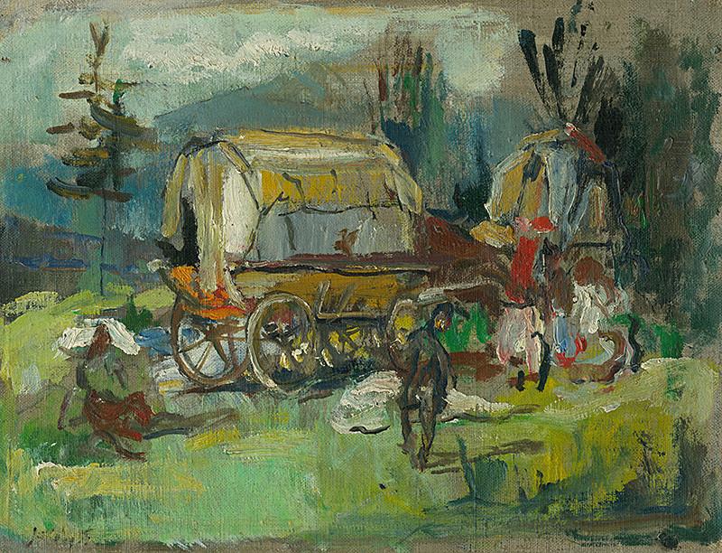 Július Jakoby - Cigáni pod Tatrami, 1955