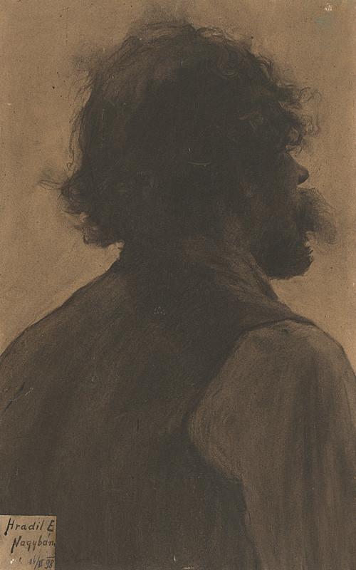 Elemír Halász-Hradil - Štúdia hlavy cigáňa, 1898