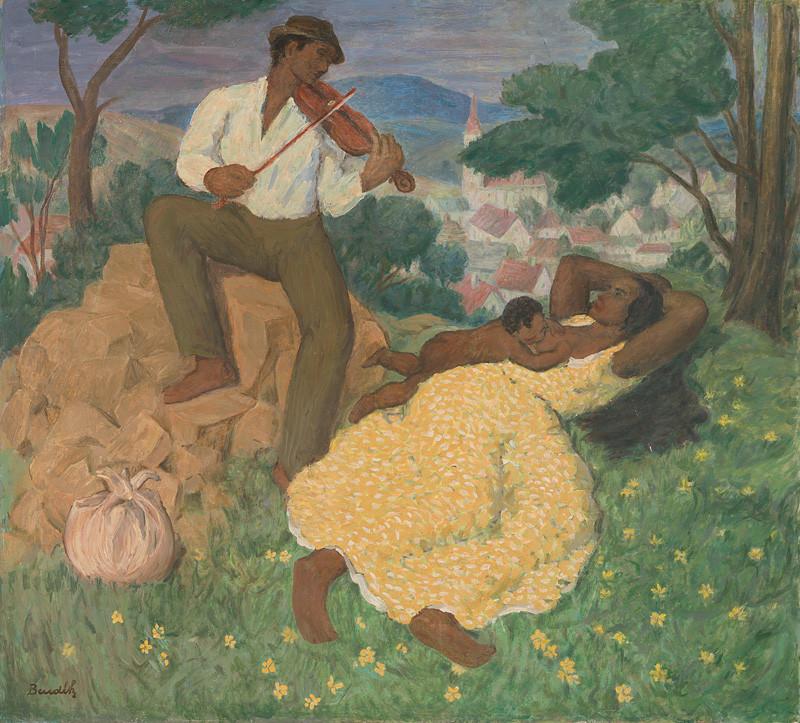 Jozef Bendík - Cigánska idyla, 1938