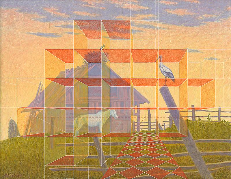 František Veselý - Nostalgia-alebo možnosť ďalšej prístavby, 1980, Východoslovenská galéria